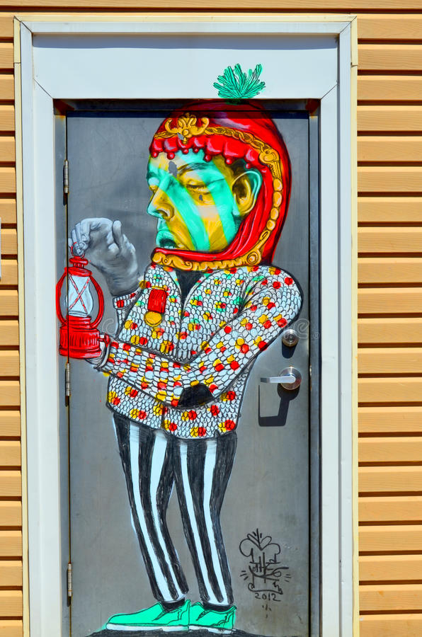 Murale Halifax del centro immagini stock