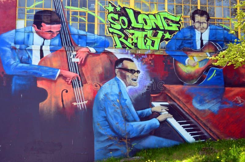 Murale Halifax del centro immagine stock libera da diritti
