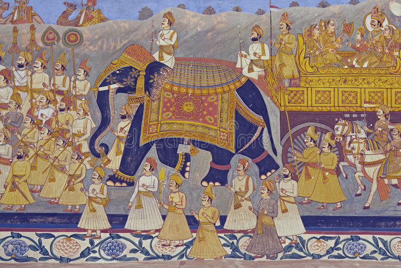 Murale indiano fotografie stock libere da diritti