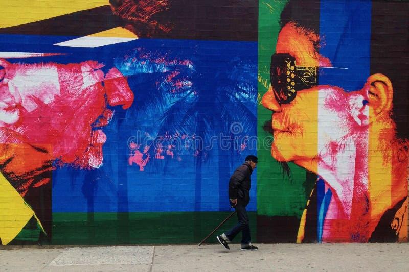 Murale orientale di Harlem fotografie stock