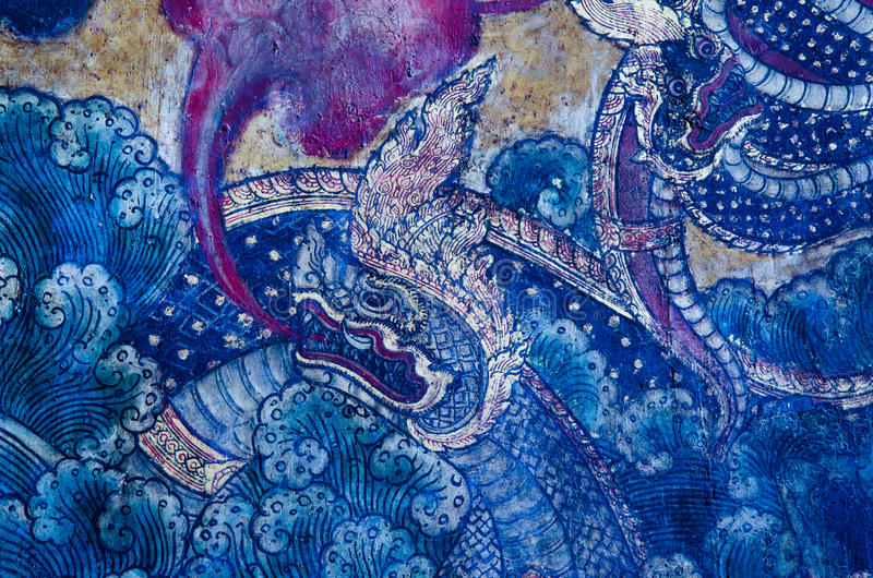 Murale tradizionale tailandese immagine stock libera da diritti