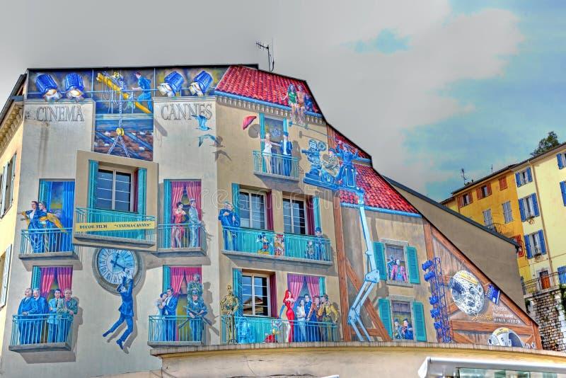 Murales в Канн стоковое фото