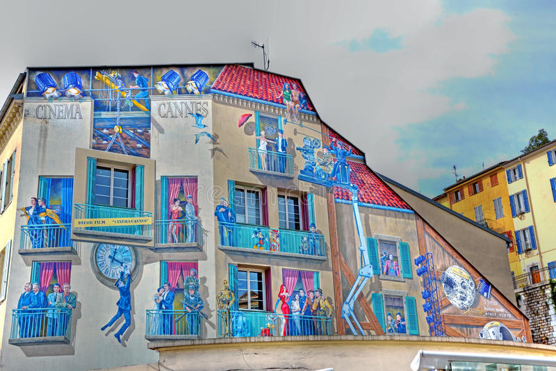 Murales in cannes stock photo