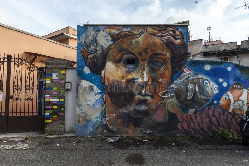 Murales del arte de la calle en Roma imagenes de archivo