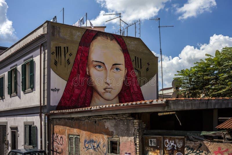 Murales del arte de la calle en Roma foto de archivo