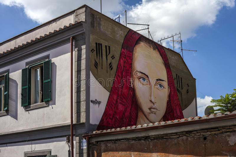 Murales del arte de la calle en Roma fotografía de archivo libre de regalías