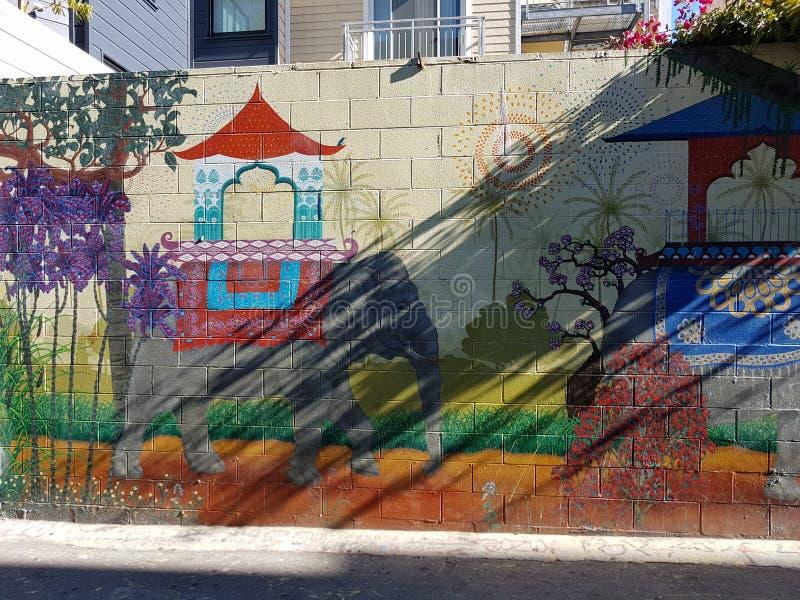 Murales en el distrito de la misión, San Francisco foto de archivo libre de regalías