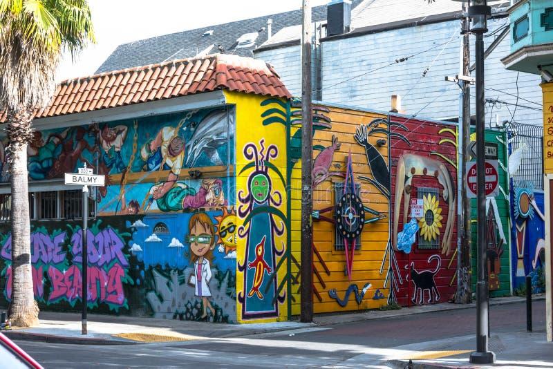 Murales en San Francisco imagen de archivo libre de regalías