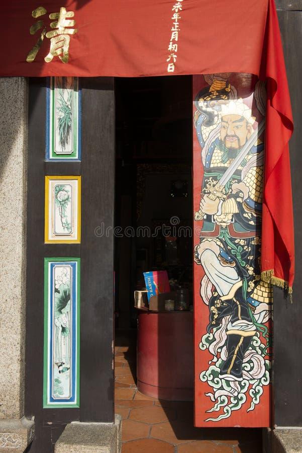 Murales hermosos de PENANG, MALASIA 10 de agosto de 2015 en la puerta adentro imagen de archivo libre de regalías