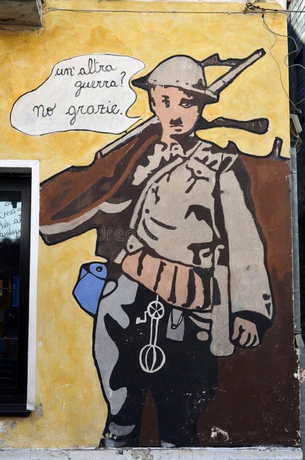Murales otro guerra ningunas gracias foto de archivo