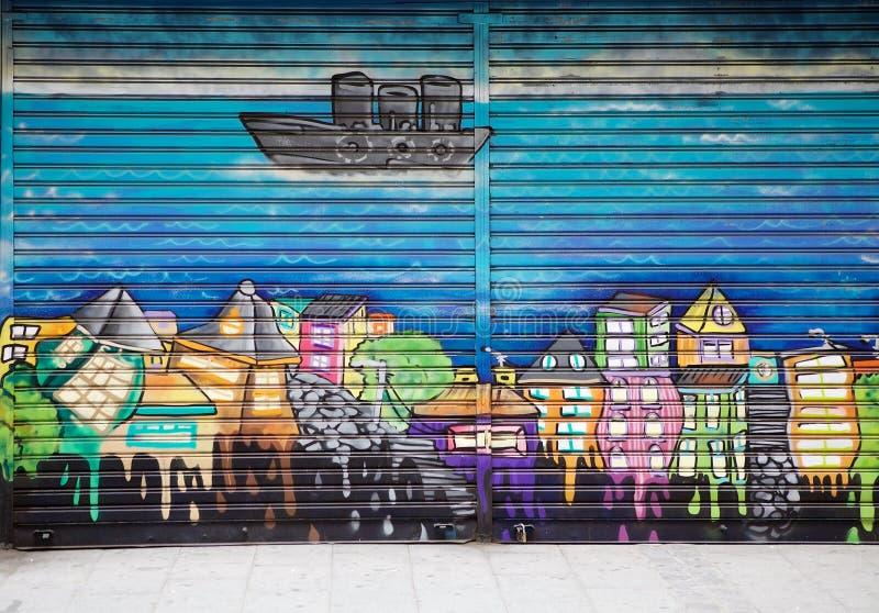 Download Murales In Valparaiso, Chile Redaktionelles Bild - Bild von valparaiso, fassade: 96930455