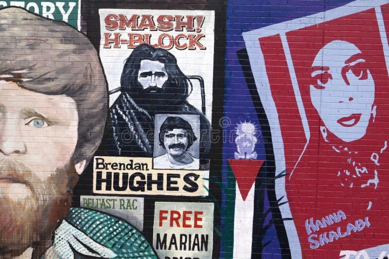 Murali della parete di pace di Belfast fotografie stock libere da diritti