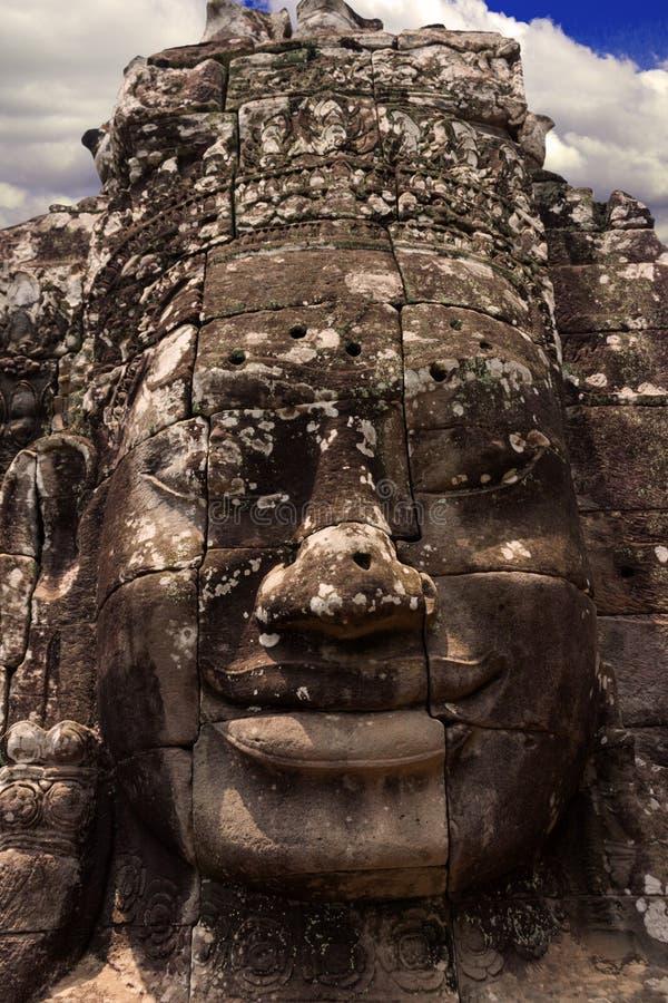 Murali di pietra in Angkor Wat immagini stock
