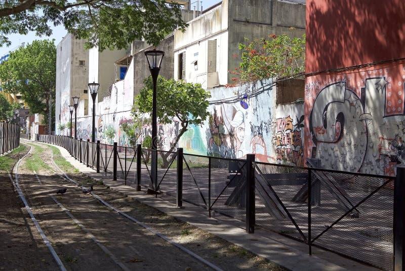 Murali in La Boca, Buenos Aires, Argentina fotografia stock libera da diritti