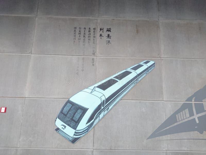 Murals adorn a subway station in shenzhen, China. Murals adorn the che gong miao subway station in shenzhen royalty free stock images