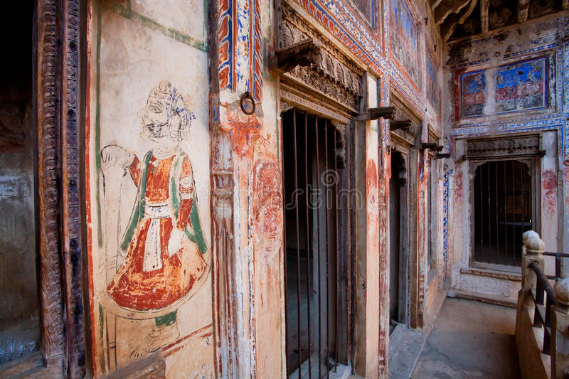 Download Murals Inside The Historical House In Rajasthan Editorial Image    Image Of Gallery, Handmade