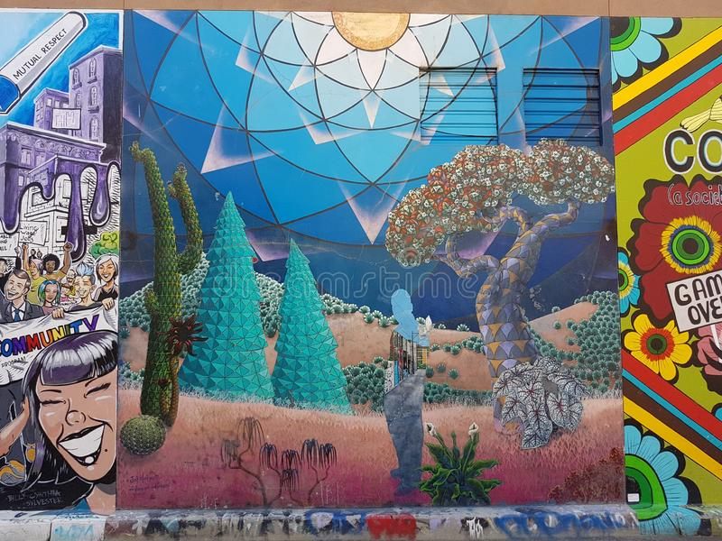 Murals In Mission District, San Francisco stock images