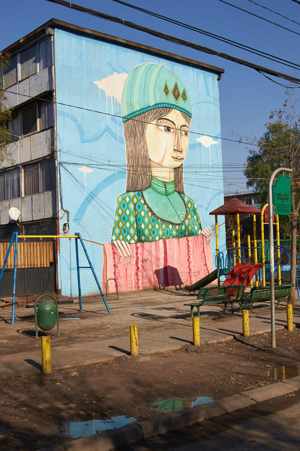 Murals of San Miguel royalty free stock photo