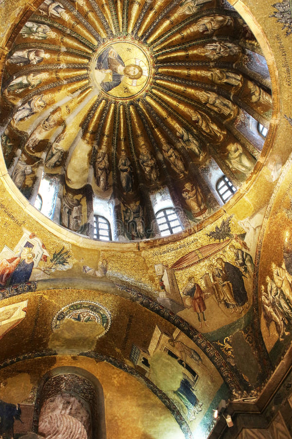 Murals under the dome in the Church of the Holy Savior royalty free stock image