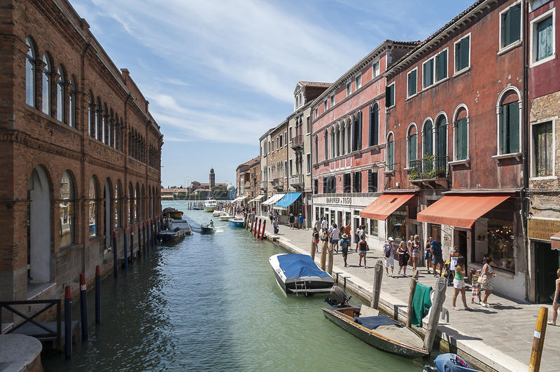 Murano,威尼斯,意大利 免版税图库摄影