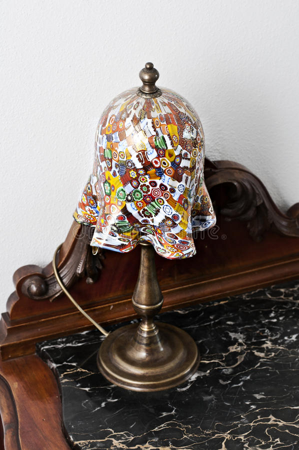 Download Murano Bedside Lamp stock image. Image of electric, decorate - 24496031
