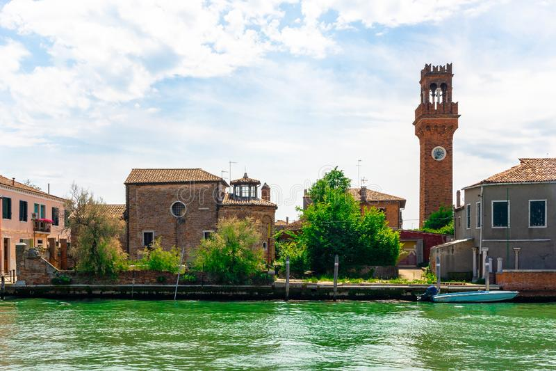 Murano, die Insel des Glases in Venedig stockfoto