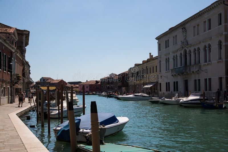 Murano, is een archipel ten noordoosten van de oude stad royalty-vrije stock afbeelding