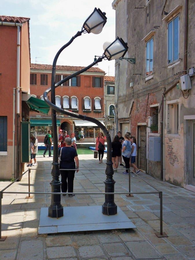 Murano - poste della lampada nell'amore immagini stock libere da diritti