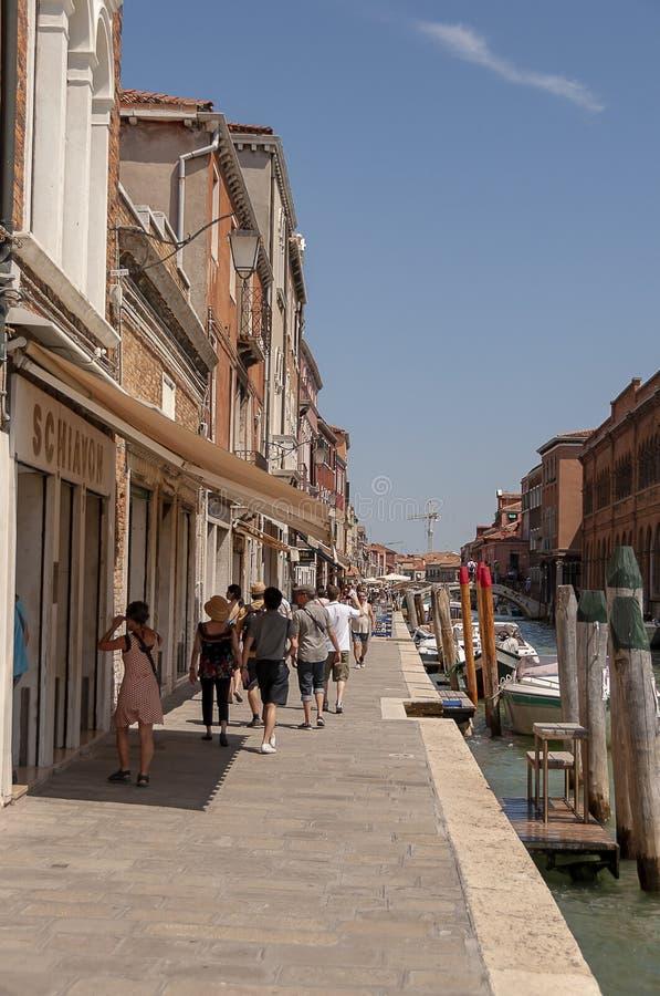Murano Venetië Italië stock afbeeldingen