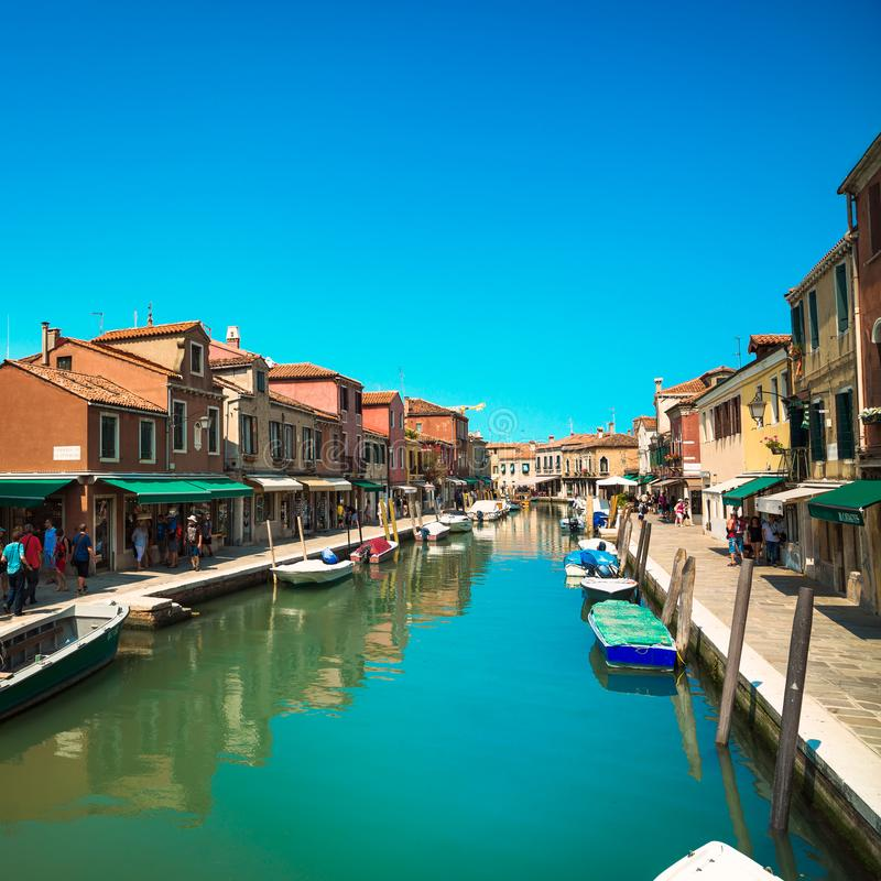 MURANO, VENISE/ITALIE - 17 JUILLET 2013 : Isla de fabrication de verre de Murano photo stock
