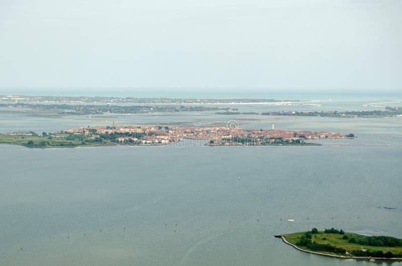 Muranoeiland, Venetië, luchtmening royalty-vrije stock foto