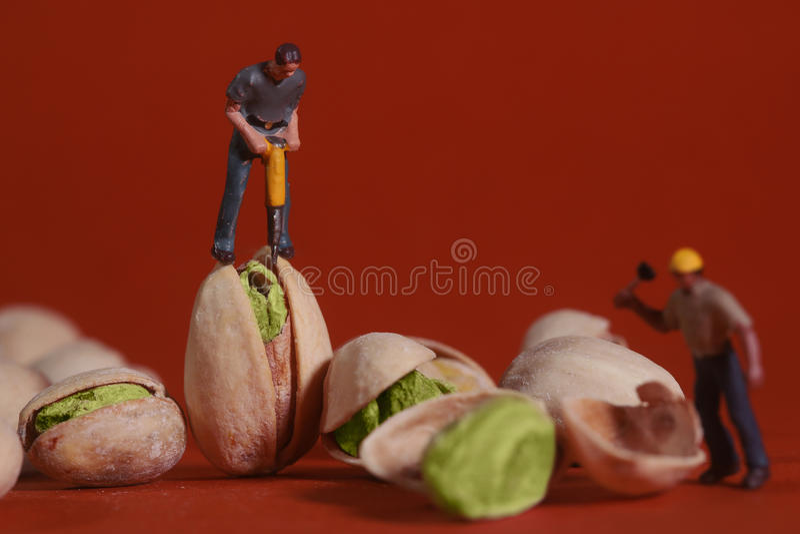 Muratori nelle immagini concettuali dell'alimento con il pistacchio N immagini stock libere da diritti