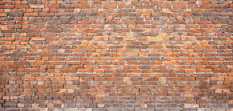 Muratura d'annata muro di mattoni rosso, fondo per progettazione fotografia stock
