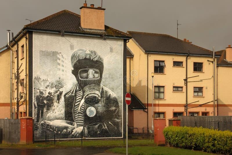 muraux Derry Londonderry Irlande du Nord Le Royaume-Uni photo libre de droits