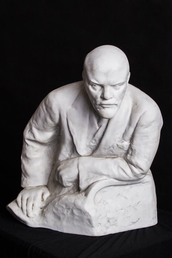 Murbrukskulptur av Lenin royaltyfria foton