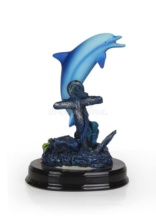Murbrukstatyett av en delfin royaltyfria bilder