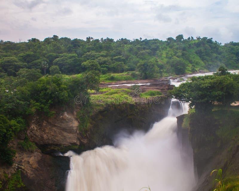Murchison秋天,乌干达 免版税库存照片