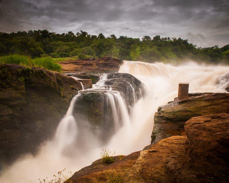 Murchison Fälle, Uganda lizenzfreie stockfotos