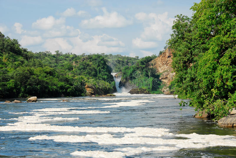 Murchison fällt auf das Victoria Nil, Uganda stockbilder