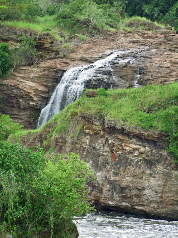 Murchison Falls em África foto de stock royalty free