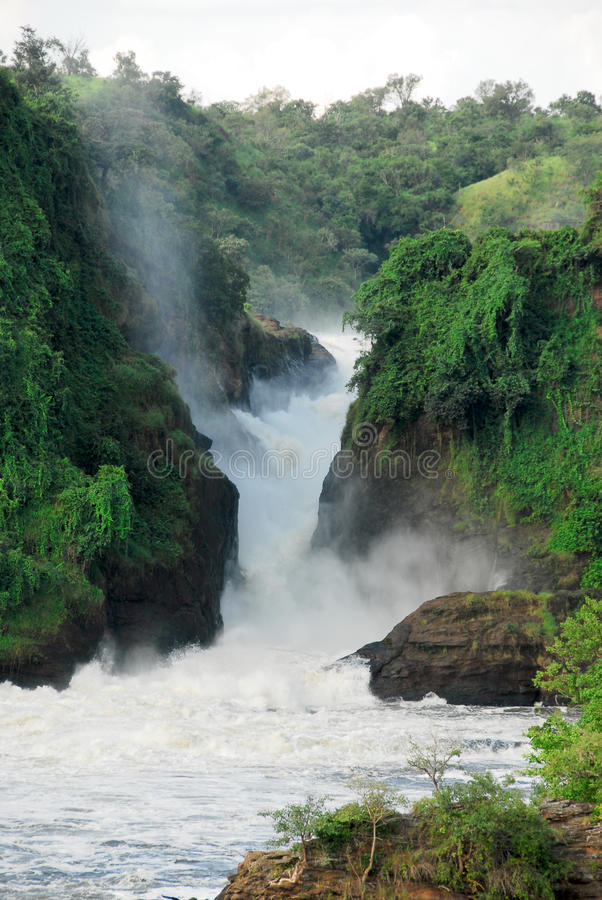 Murchison Falls on the Victoria Nile, Uganda royalty free stock photography