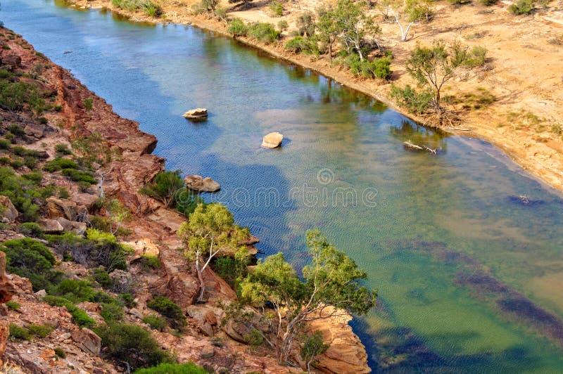Murchison-Fluss- Kalbarri lizenzfreie stockfotografie