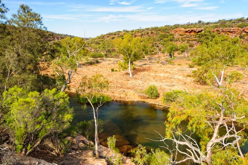 Murchison rzeka - Kalbarri fotografia stock