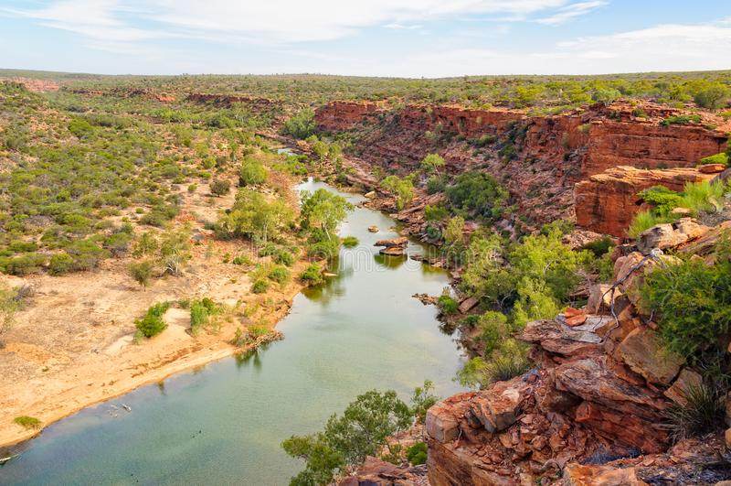 Murchison rzeka - Kalbarri fotografia royalty free