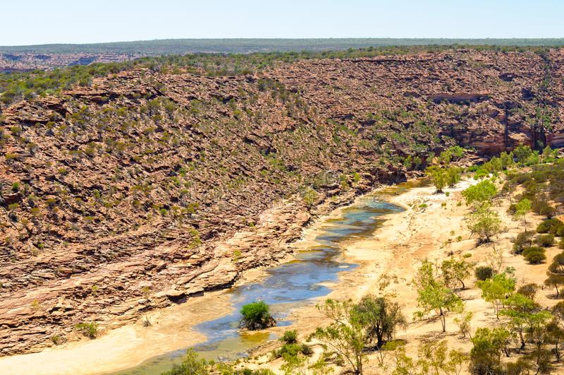 Murchison wąwóz - Kalbarri obrazy royalty free