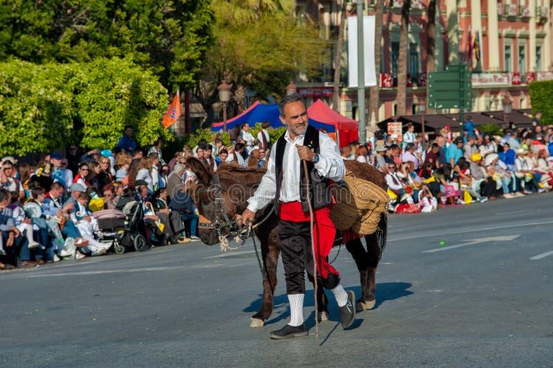 MURCIA, ΙΣΠΑΝΙΑ 3 ΑΠΡΙΛΊΟΥ 2018: εορτασμοί σε θλμuρθηα με το traditi στοκ εικόνες με δικαίωμα ελεύθερης χρήσης