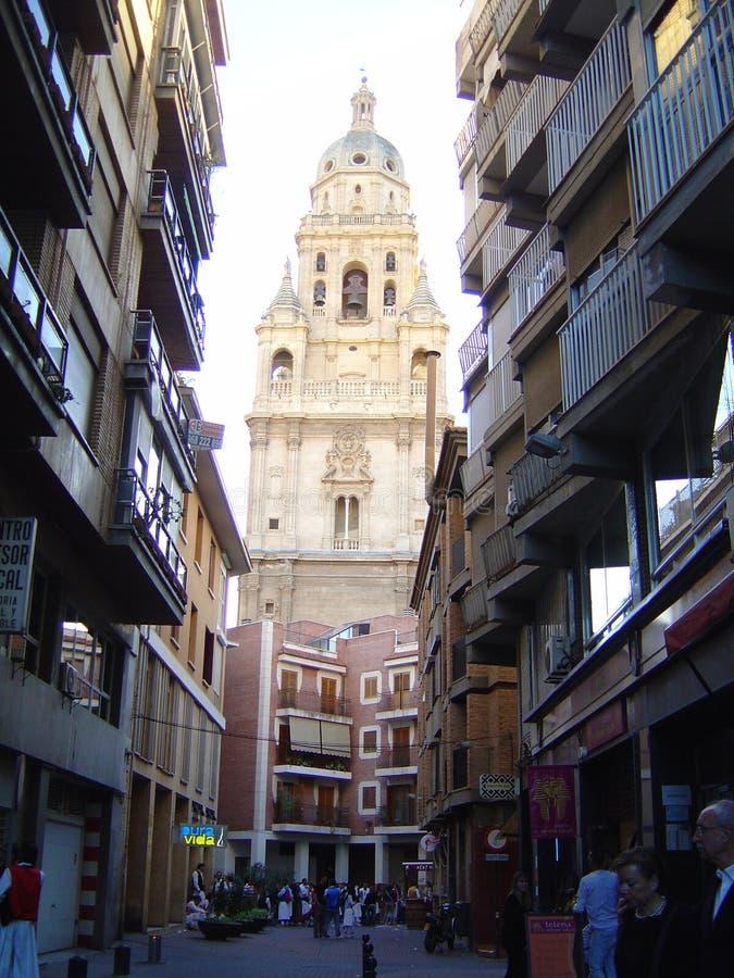Murcia, Hiszpania, Kwiecień 02, 2013: Dzwonkowy wierza zdjęcie stock