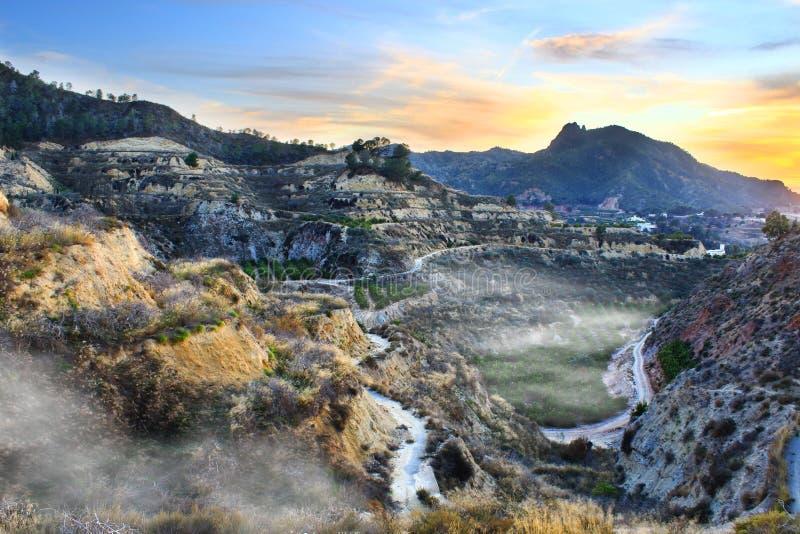The Murcia mountains stock photography