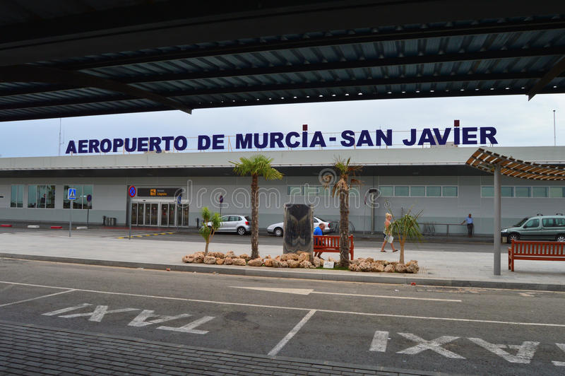 Murcia San Javier Airport In Spain - Terminal Building Departures stock photos