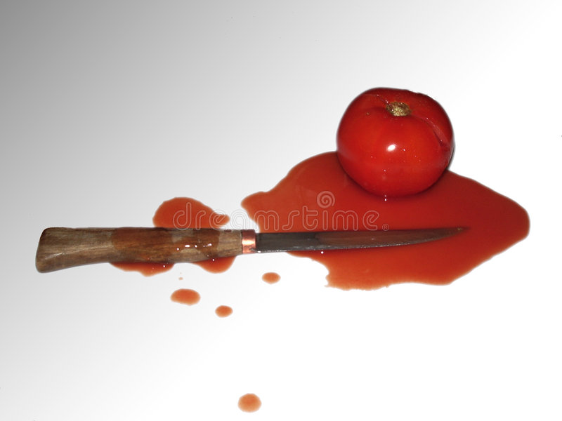 Murder in the kitchen royalty free stock photography
